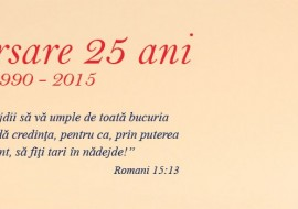 Aniversare 25 ani – Romanian Philadelphia Church (Nov. 20 – 22, 2015)